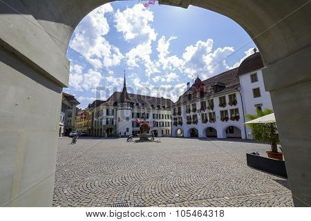 The Town Hall Square Of The City Of Thun