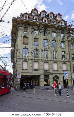 Tram System Infrastructure In Bern, Switzerland