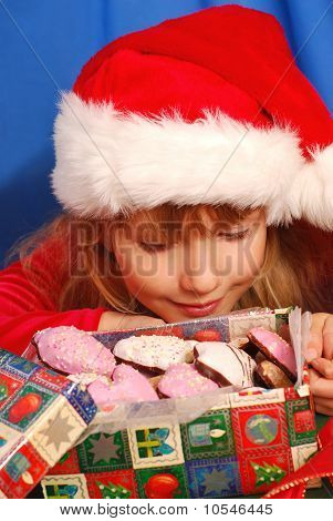 Girl And Christmas Gingerbreads
