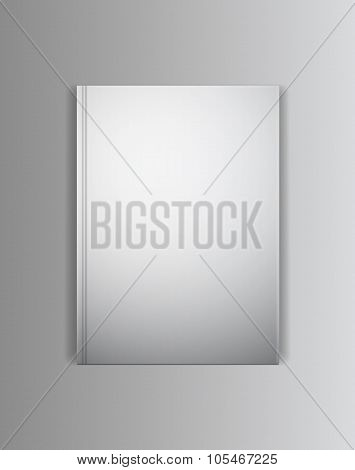 Vector cover book mockup template. Ready to place your image