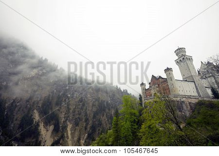 The Neuschwanstein Castle in Germany