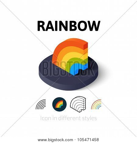Rainbow icon in different style