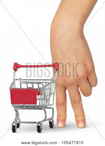 Buyer Concept,  Hand With Empty Shopping Cart