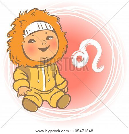Baby zodiac Leo