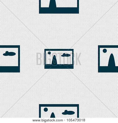 File Jpg Sign Icon. Download Image File Symbol. Seamless Abstract Background With Geometric