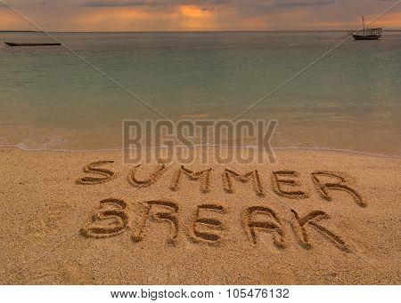 Summer Break Words