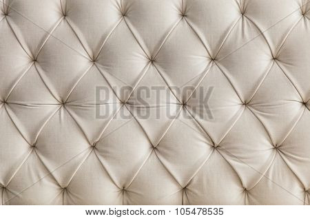 Light upholstery white sofa pattern background