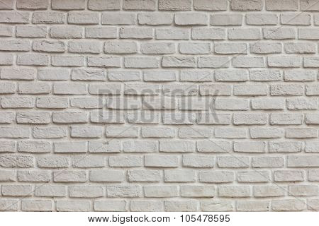 White grunge brick wall  for background