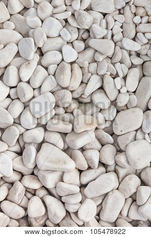 white pebbles background for design
