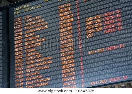Departure Arrival Board Airport