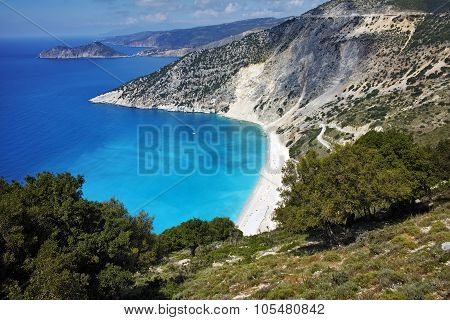 Amazing view of Myrtos beach, Kefalonia, Ionian islands