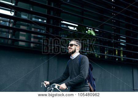 Taking City Bike Ride