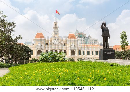 Ho Chi Minh City Hall Saigon Vietnam.