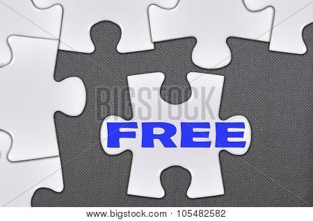 Jigsaw Puzzle Written Word Free