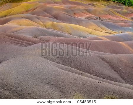 Colored sand dunes