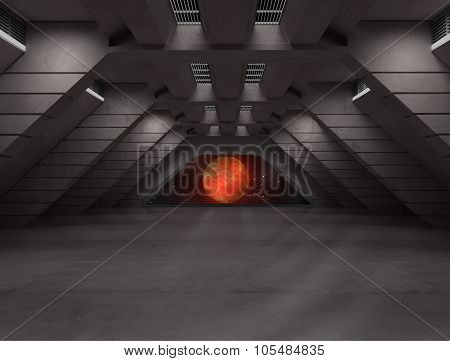 Science Fiction Interior Scene