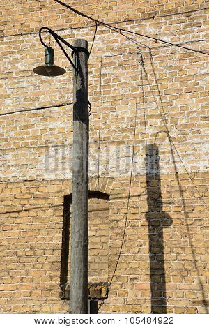 Street lamp of Riga Ghetto