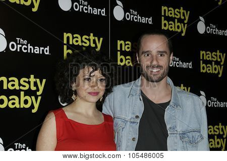 LOS ANGELES - OCT 19: Alia Shawkat, Sebastian Silva at the Premiere of Nasty Baby at ArcLight Cinemas on October 19, 2015 in Los Angeles, California.