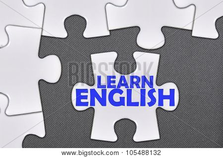 Jigsaw Puzzle Written Word Learn English