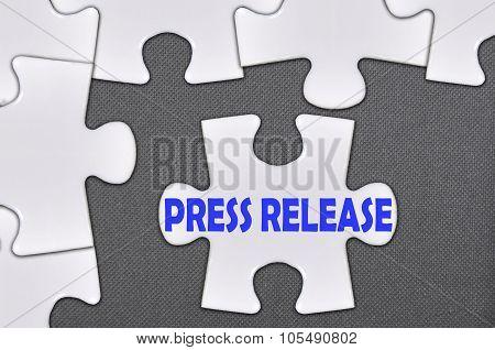 Jigsaw Puzzle Written Word Press Release