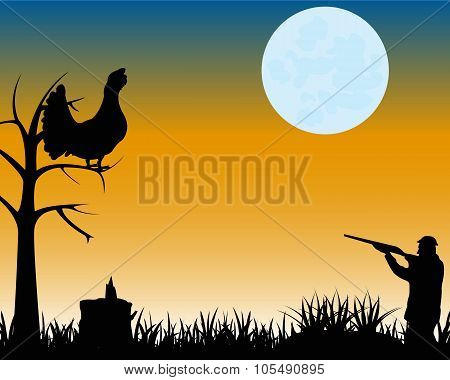 Huntsman on black grouse