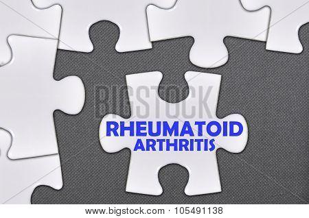 Jigsaw Puzzle Written Word Rheumatoid Arthritis