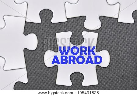 Jigsaw Puzzle Written Word Work Abroad
