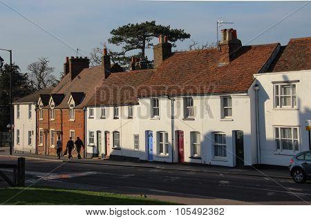 English village cottages on Bushey High Street