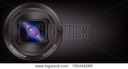 Lens Digital Camera Background Vector