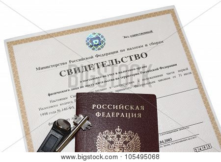 Certificate of registration with the tax authority