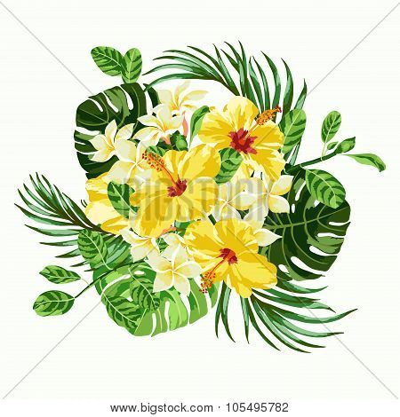 Bouquet Of Tropical Flowers.