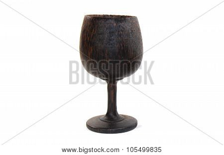 Wine Wood Cup Handcraft Made From Palm