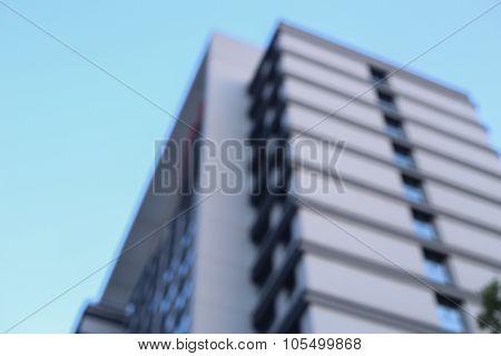 Blurred Modern Building Skyscrapers
