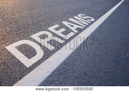 Dream Word With Line