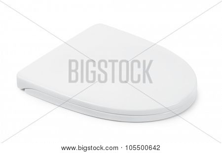 Plastic toilet seat isolated on white