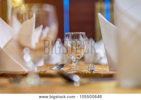 Table Set Up For Dinning Room