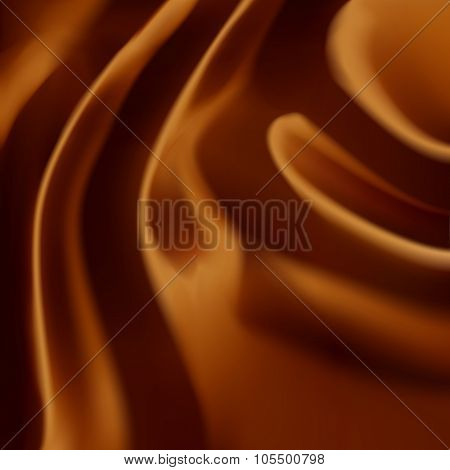 Beautiful Realistic Brown Expensive Silk Fabric Or Chocolate