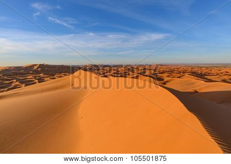 Africa, Morocco - view of Erg Chebbi Dunes - Sahara Desert - at sunrise