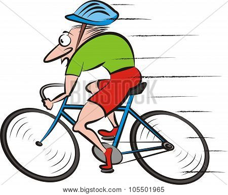 cyclist, cycling - vector bike