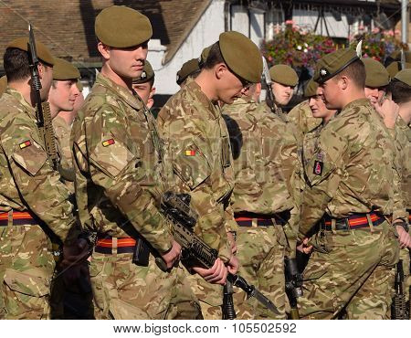 Troops of the Royal Anglian Regiment