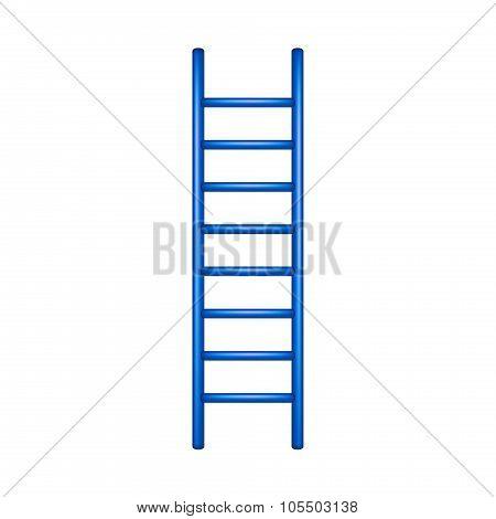 Wooden ladder in blue design