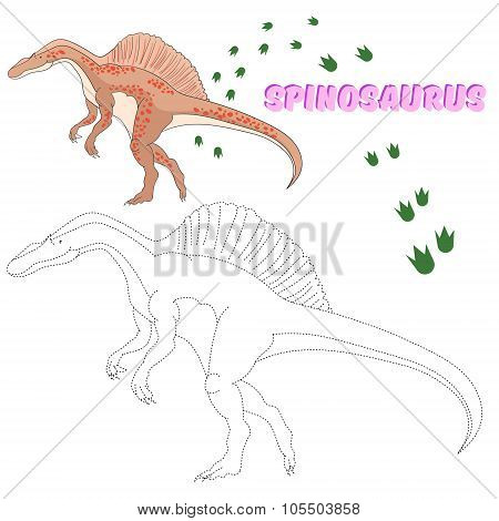 Educational game  connect dots to draw dinosaur