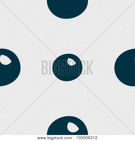 Number Zero Icon Sign. Seamless Abstract Background With Geometric Shapes.