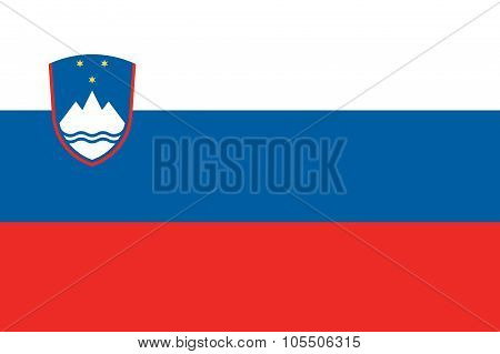 Slovenia Flag Illustration Of European Country