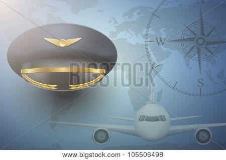 Pilot aircraft civil aviation background