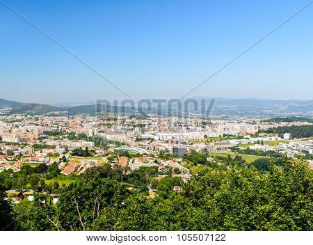 view from the top of Bom Jesus do Monte, a sanctuary in Tenoes, Braga, Portugal