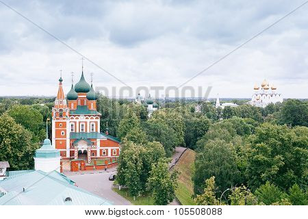 Yaroslavl, Russia - June 26, 2015: Yaroslavl Is One Of The Oldest Russian Cities, Founded In The Xi
