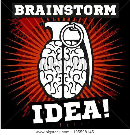Brainstorm - idea.  Brain Grenade