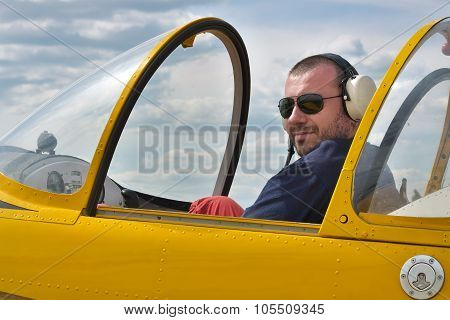 Pilot In The Cockpit