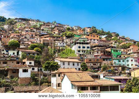 Favela in Brazil, South America